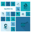 happy mothers day icons vector image vector image