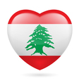 Heart icon of Lebanon vector image vector image