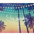 holiday lights background in beach vector image