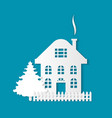 house silhouette three storey estate dwelling vector image