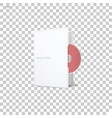 isolated cd disk vector image vector image