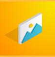 isometric image icon vector image