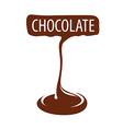 logo manufacturing dark chocolate vector image vector image