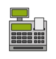 machine register isolated icon vector image vector image