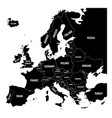 map of europe with names of sovereign countries vector image vector image