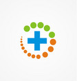medical protection hospital logo vector image vector image