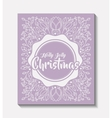 merry christmas frame vintage style vector image vector image
