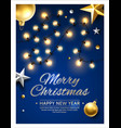 merry christmas happy new year poster vector image