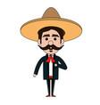mexican mariachi avatar character vector image vector image