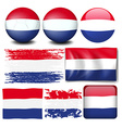 Nederland flag in different design vector image vector image