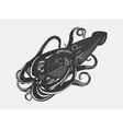 Ocean and sea calamari or squid with tentacles vector image vector image