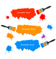 paint brushes and paint banners vector image vector image