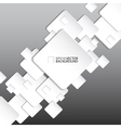 Paper square banner on grey background vector image vector image