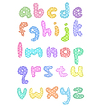 polka dot lower case alphabet with stitches vector image vector image