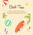 poster of summer day collection vector image