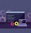 program coding concept vector image vector image