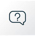 question icon line symbol premium quality vector image vector image