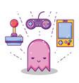retro videogame cartoons concept vector image