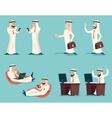 Retro Vintage Successful Arab Businessman Working vector image vector image