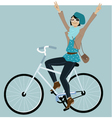 Riding a bike vector image vector image