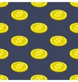 Seamless pattern coins vector image