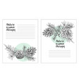 set card template with pattern realistic botanical vector image vector image