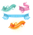 set decorative ribbons and banners vector image vector image