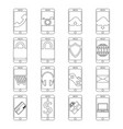 set of mobile phone line icon design editable vector image vector image