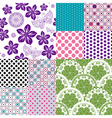 Set vintage colorful patterns vector image vector image