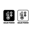 solar energy power icon solar battery green power vector image