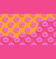 sweet donutscolorful glazed pastries background vector image vector image