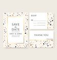terrazzo wedding invitation card abstract design vector image