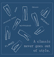 texture for multiple jeans type all types are vector image vector image