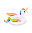 unicorn inflatable float circle for swimming pool vector image