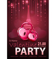 Valentine disco poster vector image vector image