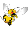 Wasp cartoon vector image vector image