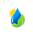 water drop bio green leaf nature logo vector image