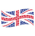 waving united kingdom flag collage of champignon vector image vector image