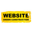 website under construction vector image