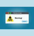 window operating system error warning vector image