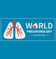 world pneumonia day diagnostics illness lungs vector image