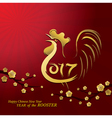 year rooster chinese new year 2017 vector image