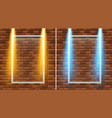 yellow and blue light on square frame vector image vector image