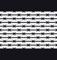 seamless pattern silhouette of barbed wire vector image