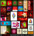 25 Christmas background MEGA collection set vector image