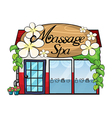 Massage shop vector image