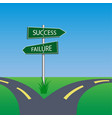 success failure signpost vector image