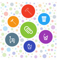 7 supplies icons vector image vector image