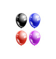 a set of multi-colored balloons vector image