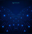 abstract blue gradient technology stripe lines vector image vector image